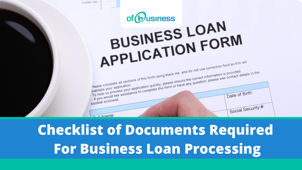 documents required for business loan processing